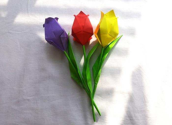 花 折り紙 立体