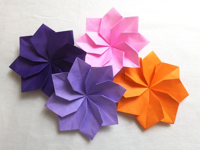 """折り紙1枚で花が作れる!立体的で可愛い""""ダリア""""の折り方・作り方 ..."""